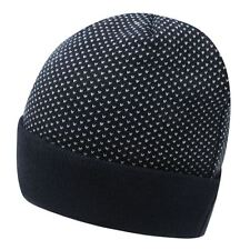 New Soviet Polka Mens Beanie Adult Warm Winter hat Navy One Size A341