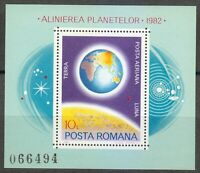 Romania 1981 MNH Mi Block 181 Sc 239 Earth ** the World, the Globe,the planet