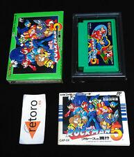 ROCKMAN 5 MEGAMAN NINTENDO NES famicom JAPONES FC CAP-5V Mega man