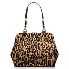 Kate Spade $1295 POSH Crown Point Garcia Calfhair Leopard Leather Shoulder Bag