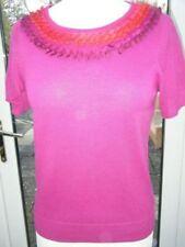 Monsoon Cotton Blend Short Sleeve Jumpers & Cardigans for Women
