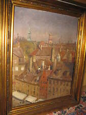 PEDERSEN Hugo Vilfred, *1870  Traumhafter Blick über eine Stadt