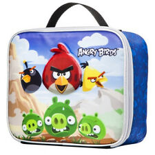 NEW Angry Birds & Green Pig Insulated Blue Lunch Container Box Tote Bag PVC FREE