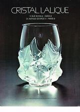 PUBLICITE  1977   LALIQUE  vase HEDERA