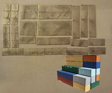 P&D Marsh N Gauge n Scale M2 Virtual Container Stack 20ft/40ft (20) kit need ptg