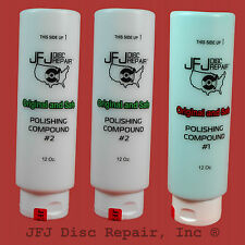 JFJ Advanced Polish Compound Solutions  Two #2 white & One #1 blue 12oz Easy Pro