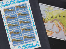 Gibraltar 1978 Mint MNH Minisheet Sheetlet from Space Air Mail Satellite Mapping