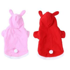 Easter Bunny Rabbit Hoodie Costume/Outfit/Clothes for Pet/Dog/Cat T