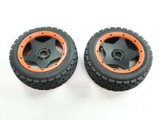 NEW KING MOTOR Wheels +Tires Front ORANGE Ring DIRT BUSTER (HPI BAJA 5B SC GB43O