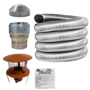 5inch Flue Liner Kit 125mm For Stove Installation, LifeTime Warranty