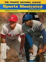 1969 9/8 Sports Illustrated Magazine Ernie Banks, Chicago Cubs Pete Rose Reds VG