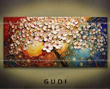GUDI- Modern Abstract Manual Art Oil Painting Wall Decor Canvas Tree Unframed