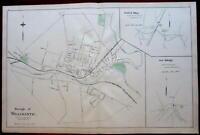 Willimantic Windham Plainfield Killingly city plan 1893 Connecticut Hurd map
