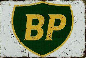 """Retro Blechschild Vintage Nostalgie look 20x30cm """"BP"""" neu"""