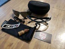 ESS Crossbow 2X Ballistic Eyeshield Kit Used 2 LENSES COMPLETE KIT GRADE B