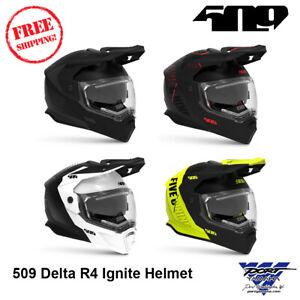509 Delta R4 Ignite Modular Helmet Electric Black Ops Storm Chaser Aura Hi-Vis