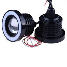 Red 76mm Front Bumper Light Fog Lamp DRL Angel Eyes Daytime Running Projector