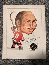 Original 1970 Robert Pelkowski Sporticatures Print - Bobby Hull - EUC