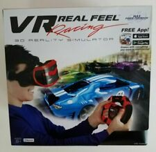 VR Real Feel Virtual Reality Car Racing Gaming System w/ Bluetooth Steering #238