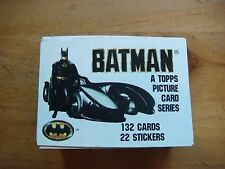 Batman - Topps Trading Cards 1989 - 136 Piece Lot (117 Cards/19 Stickers) No Dup