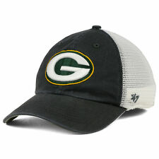 Green Bay Packers NFL Blue Hill Closer Charcoal Cap Hat Stretch-Fit Mesh Back 47