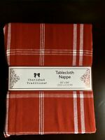 """Holiday Tablecloth Red 60""""x84""""Cherished Traditions Christmas Farmhouse"""