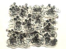 Disney Mickey Mouse Flake Sticker 40 Silhouette Sketch Drawing Scrapbook JAPAN