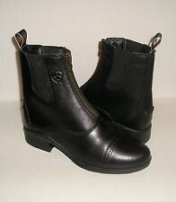 ARIAT Women's Heritage III Zipper Paddock Riding Black Ankle Boots 7 B /37.5 NEW