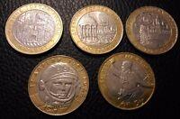 ✔ Russia 10 rubles kostroma derbnet gagarin 2000 2001 2002 Full Set Year 5 Pcs