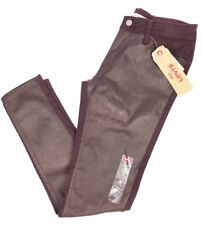 Levis 535 Women's Super Skinny Burgandy Leather Illusion Size 4 Med 27x30
