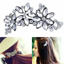 Vintage Women Crystal Flower Headwear Barrette Hair Clip Pin Accessories Jewelry