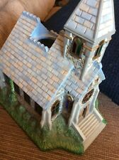 Partylite Olde World Village # 2 Church Chapel Tea Light Candle House