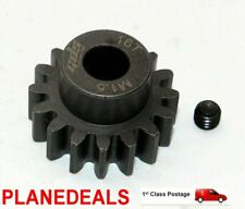 16T MOD 1.5 GDS STEEL PINION GEAR 8mm Shaft 1/5 scale rc FG, HOI  LOSI M1.5