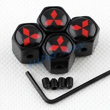 Anti-theft Auto Parts Tyre Valve Caps Cover For Mitsubishi Wheel Stem Dust Hats