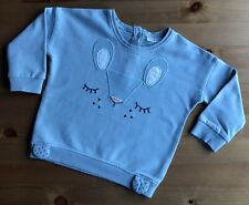 Next Baby Girls Bunny rabbit sweatshirt age 12-18 months
