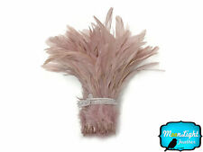 1/2 Yard -  TAUPE Strung Natural Bleach Coque Tails Wholesale Feathers (bulk)