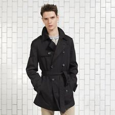 COLE HAAN City Oxford Rain Trench Coat Black XL Double Breasted Raincoat