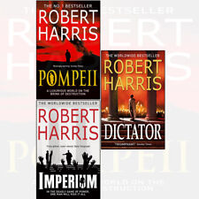 Robert Harris 3 Books Collection Set Pompeii Imperium Cicero Trilogy Dictator