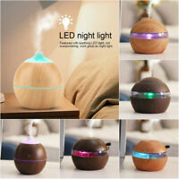 LED Ultrasonic Humidifier Purifier Aroma Aromatherapy Essential Oil Diffuser USB