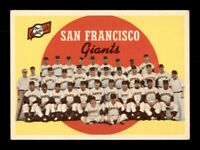 1959 Topps Set Break # 69 San Francisco Giants Team Card VG *OBGcards*