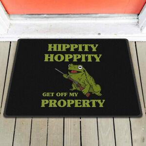 Hippity Hoppity Get Off My Property Funny US Doormat