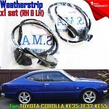 74-80 For Toyota Corolla KE35 TE37 KE55 2Door Trim Weatherstrip Door Rubber Seal