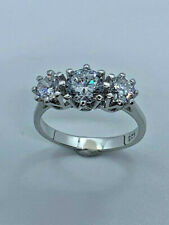 Future Ring, Size M (0112) * Sterling Silver Cubic Zirconia Trilogy Past Present