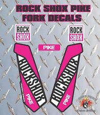 ROCK SHOX PIKE FORK Adesivi Decalcomanie Grafiche mountain bike Down Hill MTB Rosa