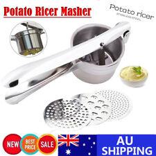 AU Stailess Large Potato Ricer Masher & Fruit Food Vegetable Press Maker Kitchen