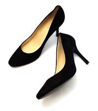 Lauren Ralph Lauren Black Suede Pumps Classic Stiletto Heels Size 9 M
