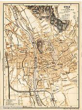Gratz Gratz 1902 Stadtplan + frz Reisef. (3 S) Joanneum Paradies mont de Château