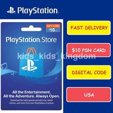 Sony US Playstation Network Playstation Store PSN USD $10 Dollar Code PS4 PS3