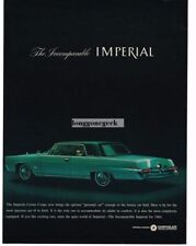 1964 CHRYSLER Imperial Crown Coupe Turquoise Vtg Print Ad