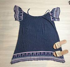 Boutique Life & Style Floral Boho Shift Dress Size 20 Short Flutter Sleeves